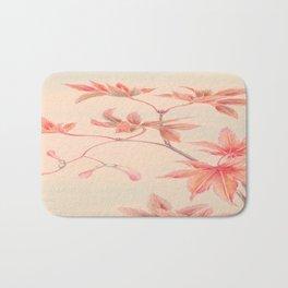 Japanese Maple Leaves Bath Mat