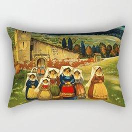 Vintage Abruzzo Italy Travel Rectangular Pillow