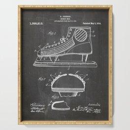 Ice Hockey Skates Patent - Ice Skates Art - Black Chalkboard Serving Tray