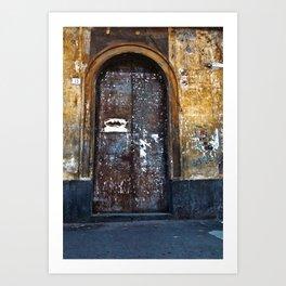 Old Sicilian door of Catania Art Print