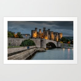 Conwy Castle by Lamplight Art Print