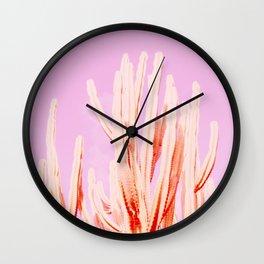 Looking Pink Wall Clock