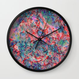 Opalescent Marble Wall Clock