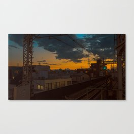 Tokyo Nights / Sunset over Fuji / Liam Wong Canvas Print