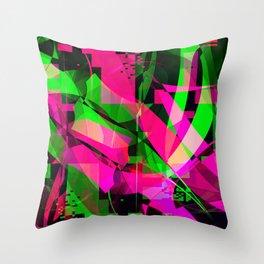 pink & lime Throw Pillow