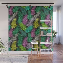 Palm Leaves Dark Smaller Wall Mural