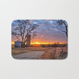 Grain Bin Sunset 3 Bath Mat