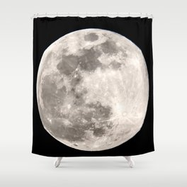 March Super Moon Shower Curtain