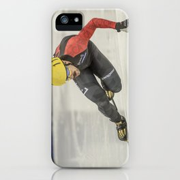 Charles Hamelin, Olympic Champion, Official Action Photo iPhone Case