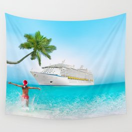 Christmas holidays on Caribbean cruise Wall Tapestry
