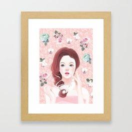 Jeniconi-flowery moment  Framed Art Print