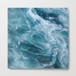 Ocean Storm | Classic Blue Metal Print