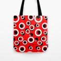 Red White Black Circles by loeye
