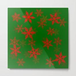 Snowflakes red Metal Print