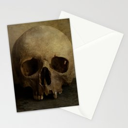 Male skull in retro style Stationery Cards