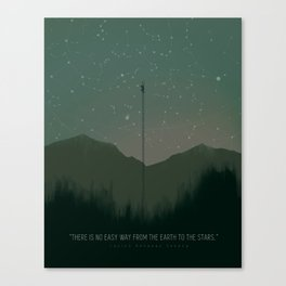 No Easy Way to the Stars Canvas Print