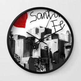 I love Santa Fe Wall Clock