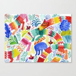 Floral Dragon Canvas Print