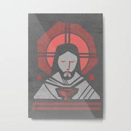 Jesus Christ Eucharist Metal Print