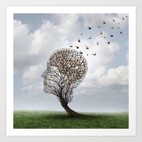 People Tree Art Print