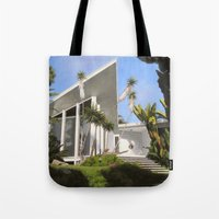 san diego Tote Bags featuring San Diego Modern Pathway by Danny Heller