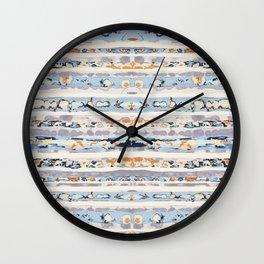 Boho Stripes Wall Clock