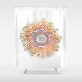 Mother Nature's Genius Coloured - 3D Linework Shower Curtain