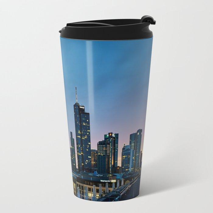 Frankfurt By Night Travel Mug
