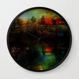 Country atmosphere Wall Clock