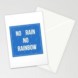 No Rain No Rainbow Stationery Cards
