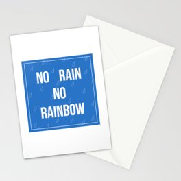 No Rain No Rainbow Stationery Cards
