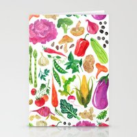 oana befort Stationery Cards featuring VEGGIES by Oana Befort