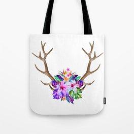 Floral Horn Tote Bag