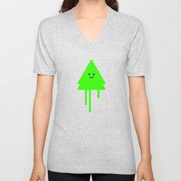 Happy Xmas Tree Unisex V-Neck