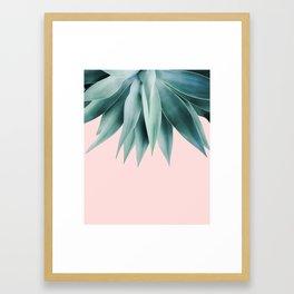 Agave fringe - blush Framed Art Print