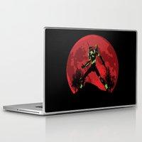 evangelion Laptop & iPad Skins featuring Neon Genesis Evangelion Unit 01 - Hill Top by kamonkey
