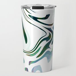 Greed Liquid Marbled Waves Design Travel Mug
