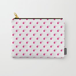 HOT PINK BOMB DIGGITYS ALL OVER LARGE Carry-All Pouch