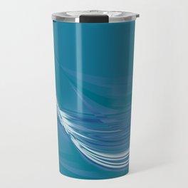 Blue Wave Abstract Travel Mug
