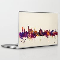 liverpool Laptop & iPad Skins featuring Liverpool England Skyline by artPause