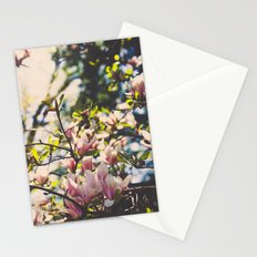 Magnolias in spring Stationery Cards
