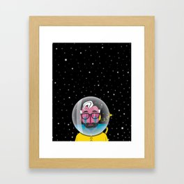 No one can hear you cry in space Framed Art Print