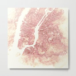 New York Pink Metal Print