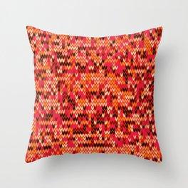 Melange knit textile 3 Throw Pillow