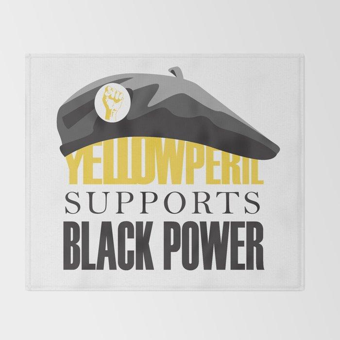 Yellow Peril Throw Blanket