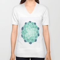 succulent V-neck T-shirts featuring Succulent by Give me Violence