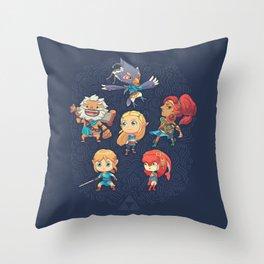 The Cuteness Ballad Throw Pillow