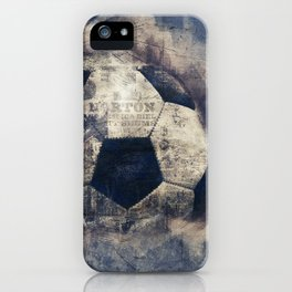 Abstract Grunge Soccer iPhone Case