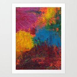 Paint Mess Art Print