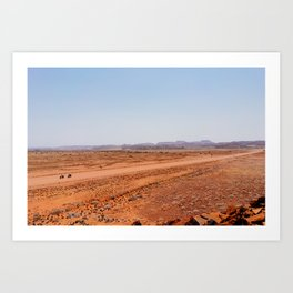 The Long Roads of Namibia Art Print